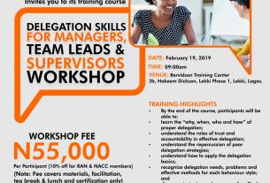 Delegation Skills for Higher Productivity Workshop