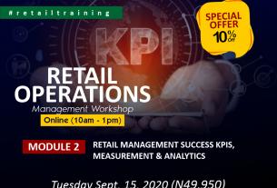 Retail Operation Management: Module 1 - Retail Management Success KPIs, Measurement & Analytics