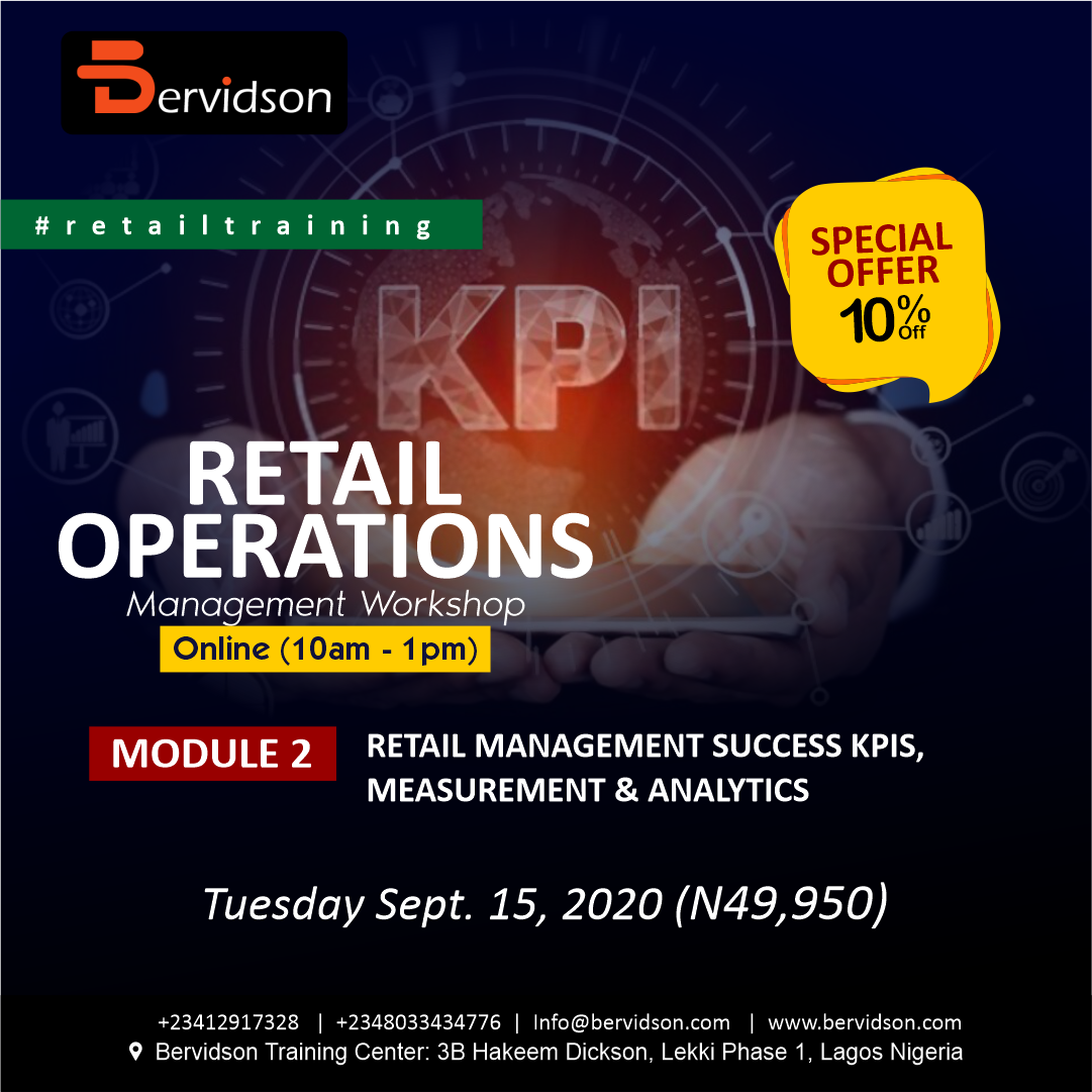 Retail Operation Management: Module 1 - Retail Management Success KPIs, Measurement & Analytics