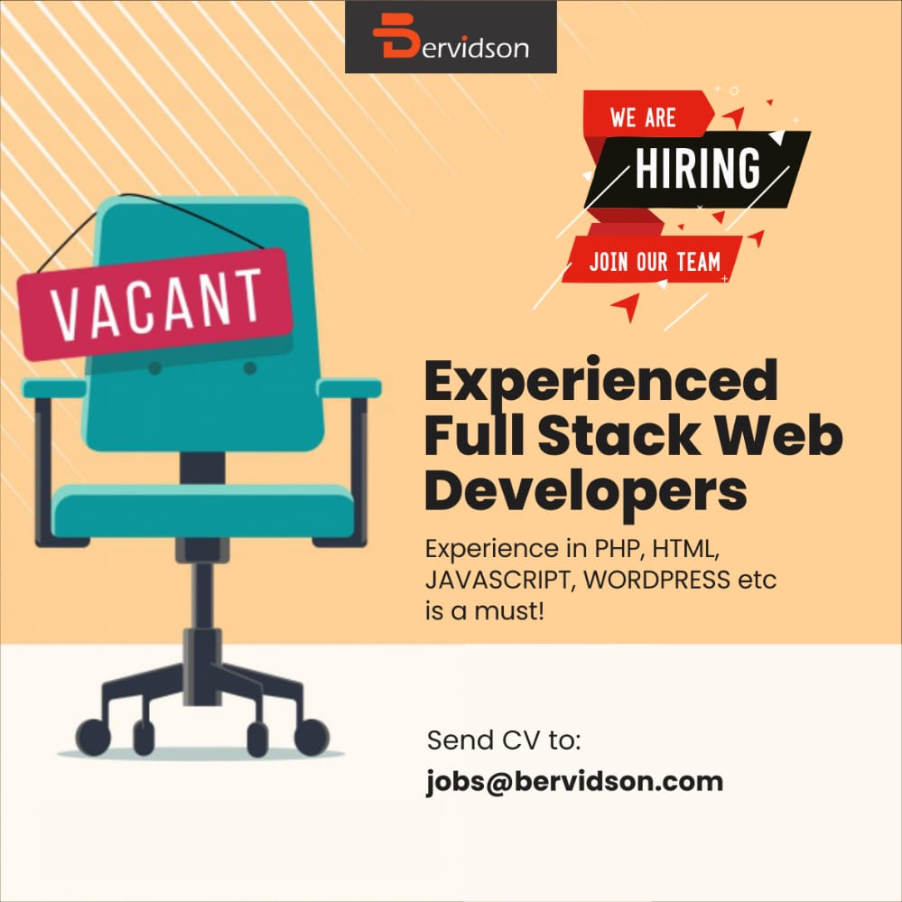 Wanted - Experienced Full Stack Web Developers