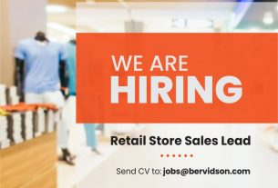 Job Opportunity - Retail Store Sales Lead!